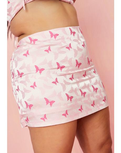 Pretty Polaroid Fever Mini Skirt