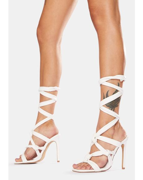 Convo Knotted Lace Up Stiletto Heels