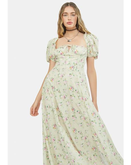 Honey Nostalgic Nites Floral Maxi Sundress