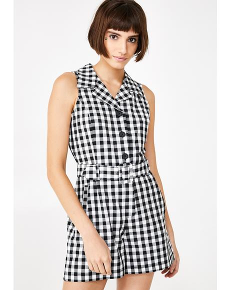 Gingham Role Playsuit