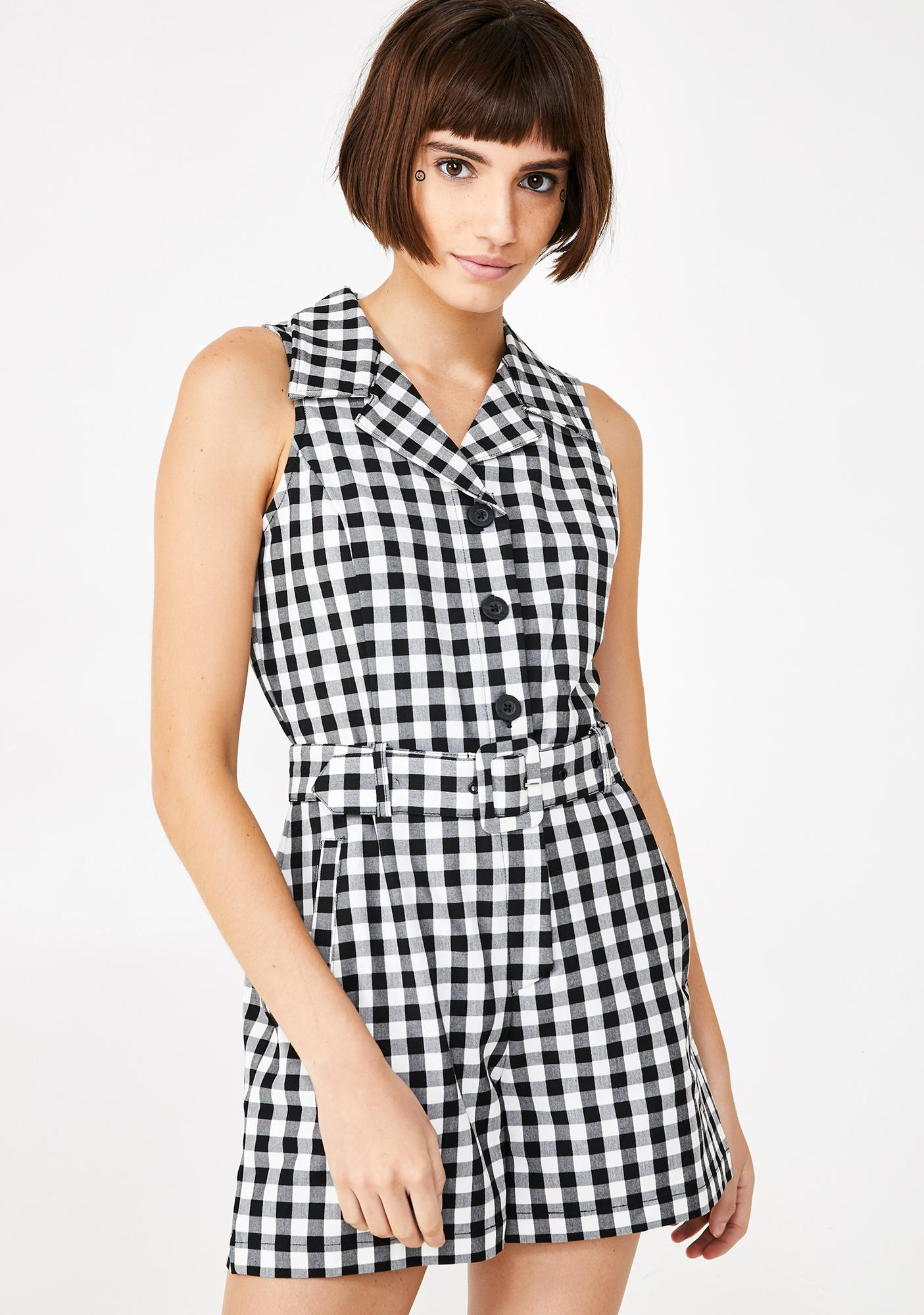 Lazy Oaf Gingham Role Playsuit