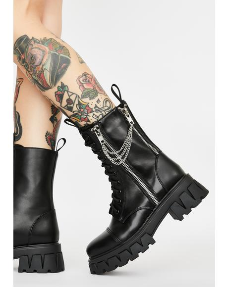 Mergo Chain Combat Boots