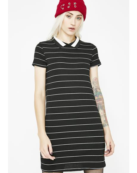 Midnight Down Low Polo Dress