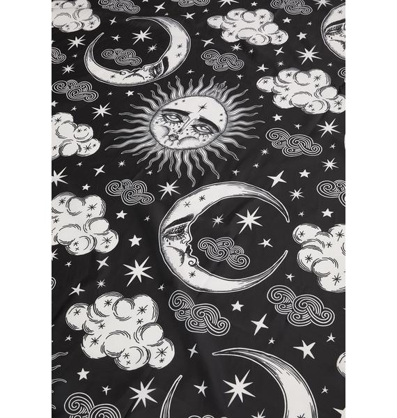 Too Fast Dreamy Moon Sun Shower Curtain