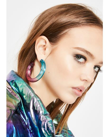 Soho Chic Acrylic Hoops