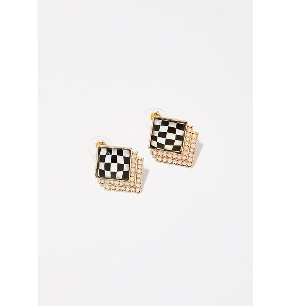Fast N' Fancy Square Earrings
