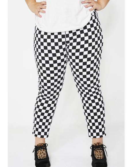 Baddie Fast Life Checkered Pants