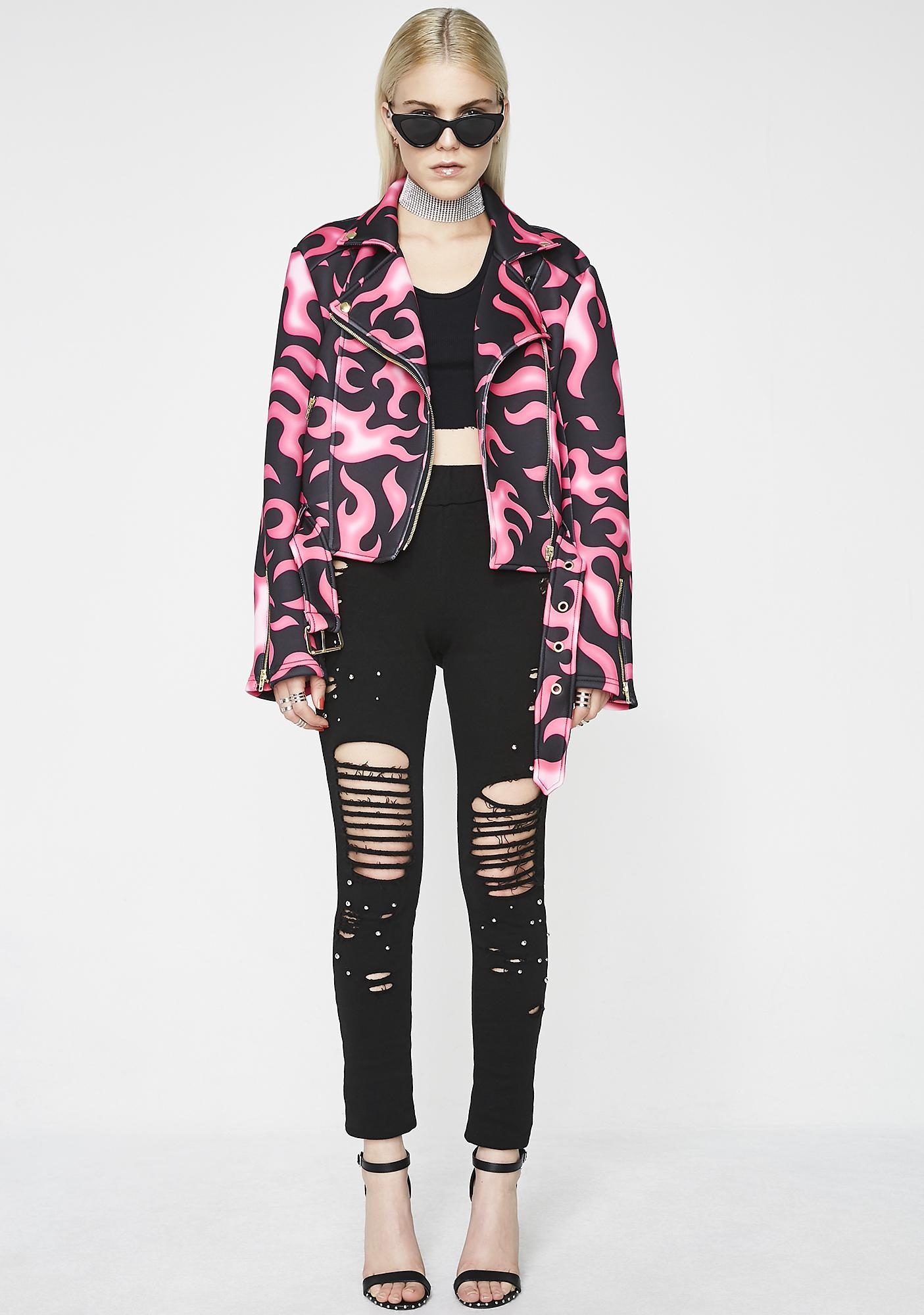 Sugarpills Pink Flames Jacket