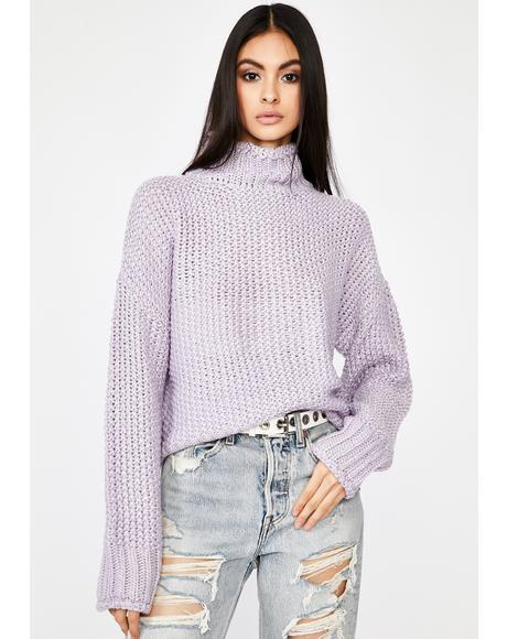 Grape Corrupt N' Chill Knit Sweater