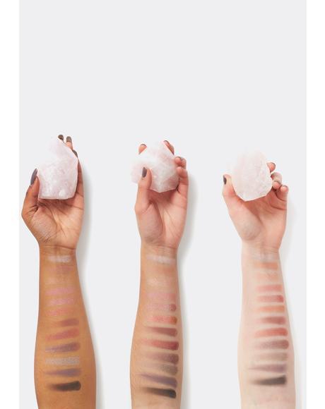 Rose Quartz Gemstone Charged Eyeshadow Palette