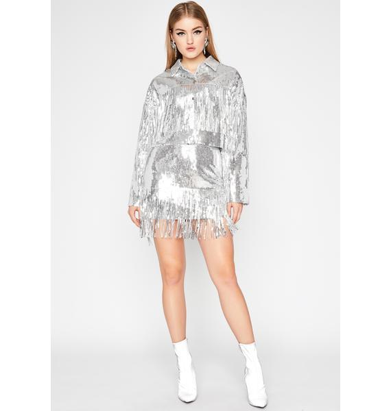 Blindin' Baddie Sequin Skirt