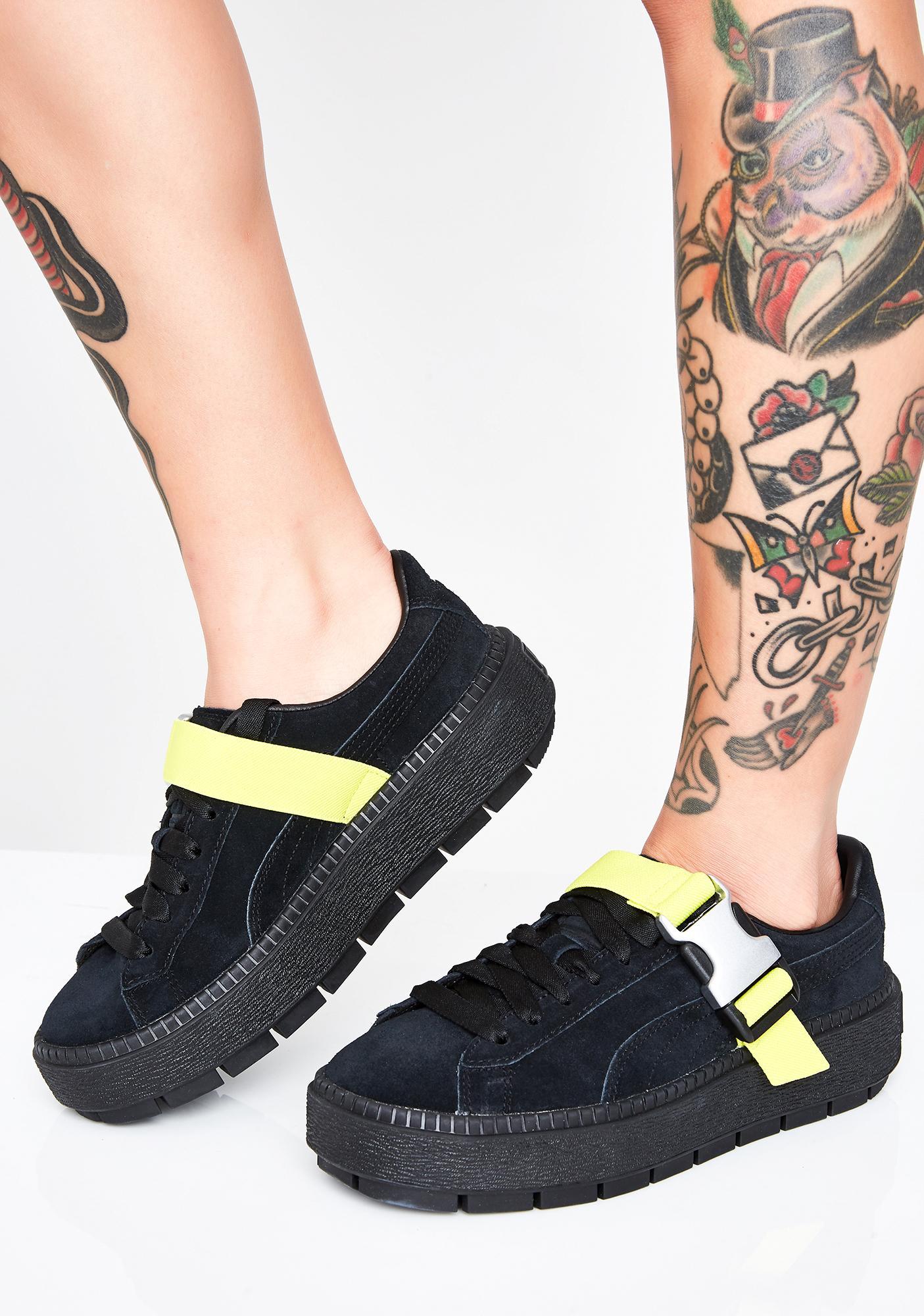 cb1095ff0158 PUMA Platform Trace Buckle Sneakers