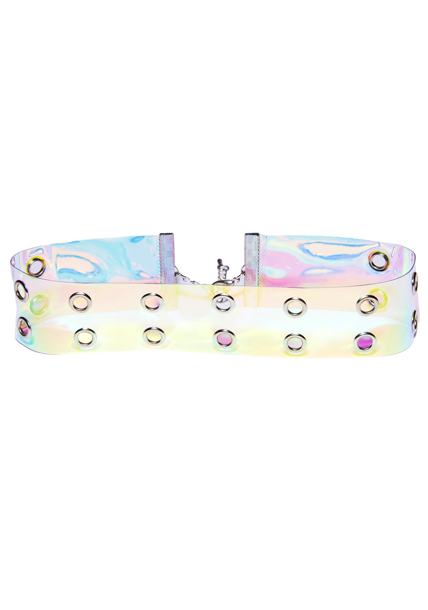 Fun House Iridescent Choker