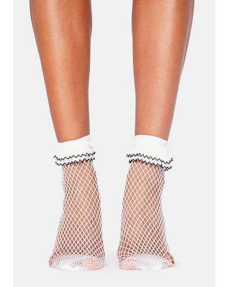Angel Leave No Trace Fishnet Socks