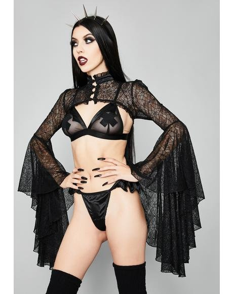 Grave Heartbreak Mesh Shrug