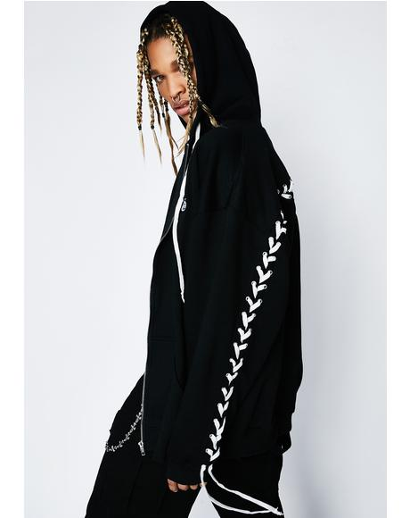 Zero Love Lace-Up Hoodie