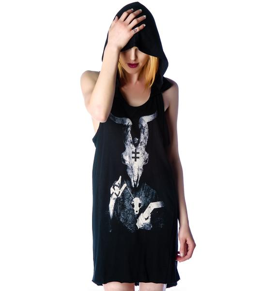 Widow Last Prayer Hooded Tank Dress