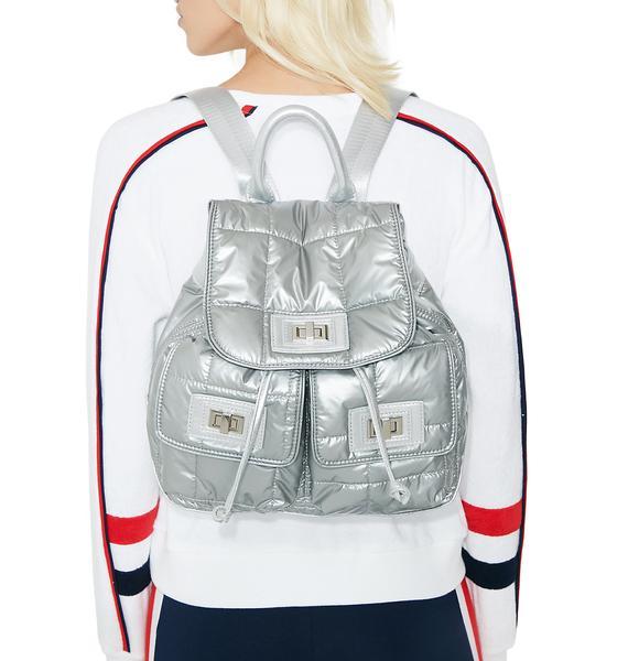 Steve Madden Puffer Medium Backpack