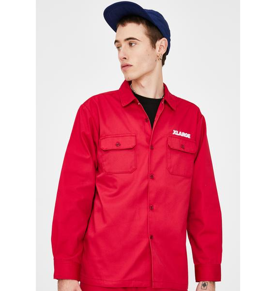 XLARGE OG Long Sleeve Work Shirt