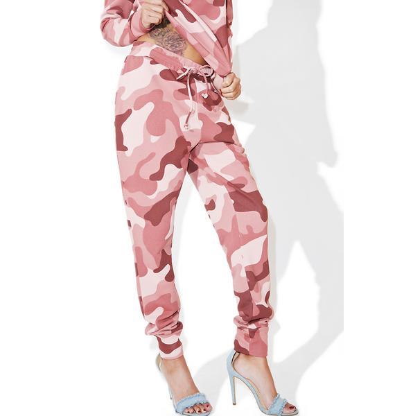 Glamorous Blushing Camo Sweatpants