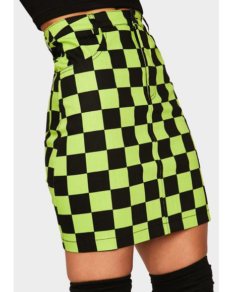 Slimer Checkered Skirt