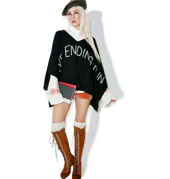 Wildfox Couture Never Ending Never Mind Poncho