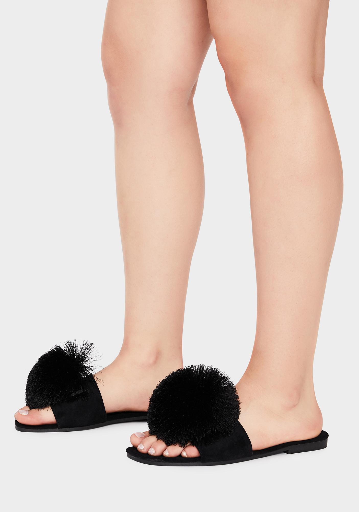 Wishful Future Pom Sandals