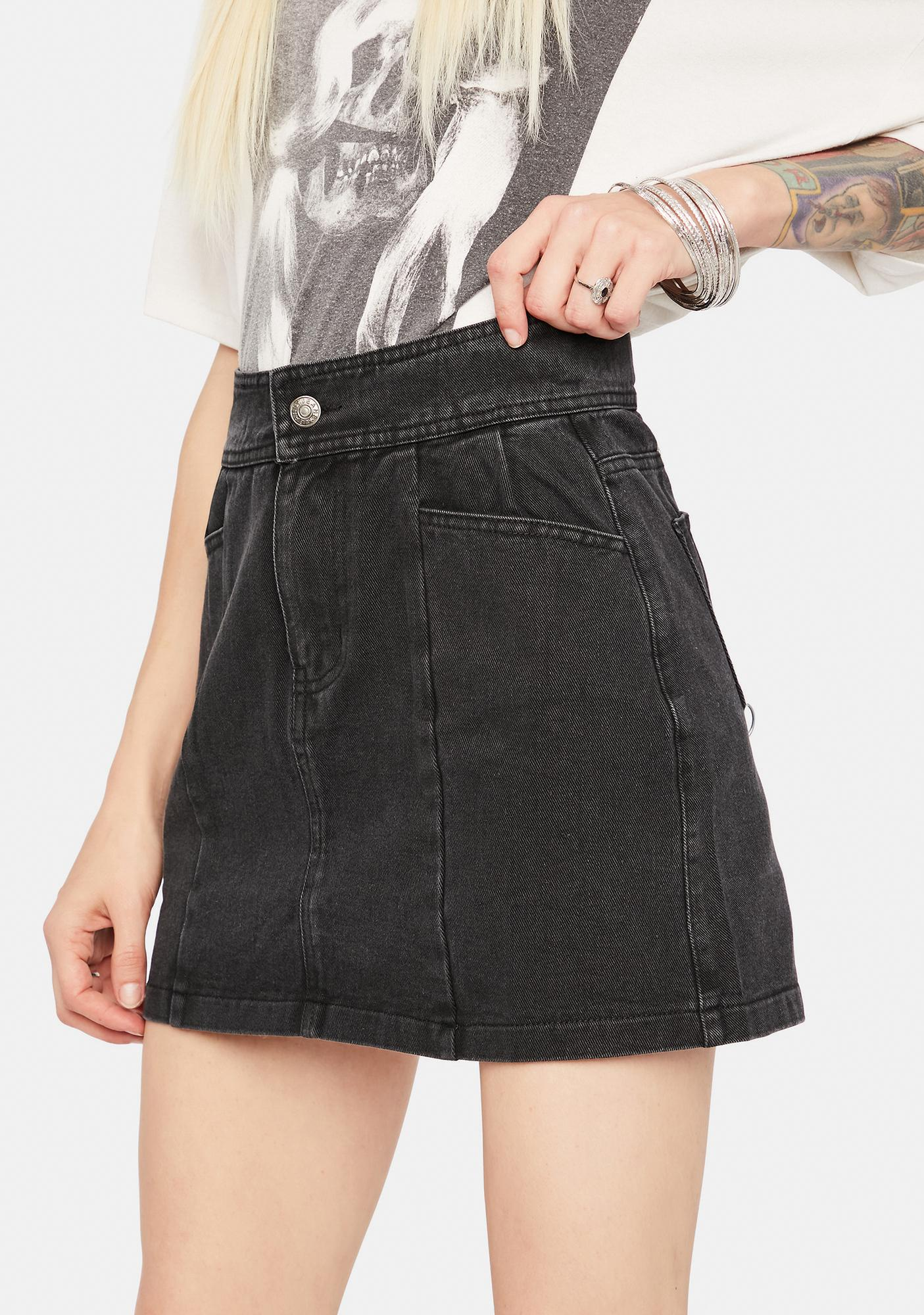 Count Your Blessings Denim Skirt
