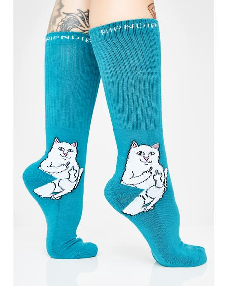 Aqua Lord Nermal Socks