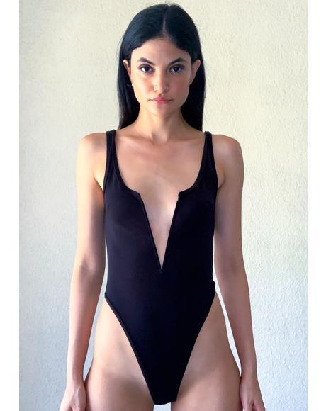 Risque Business Plunge Bodysuit