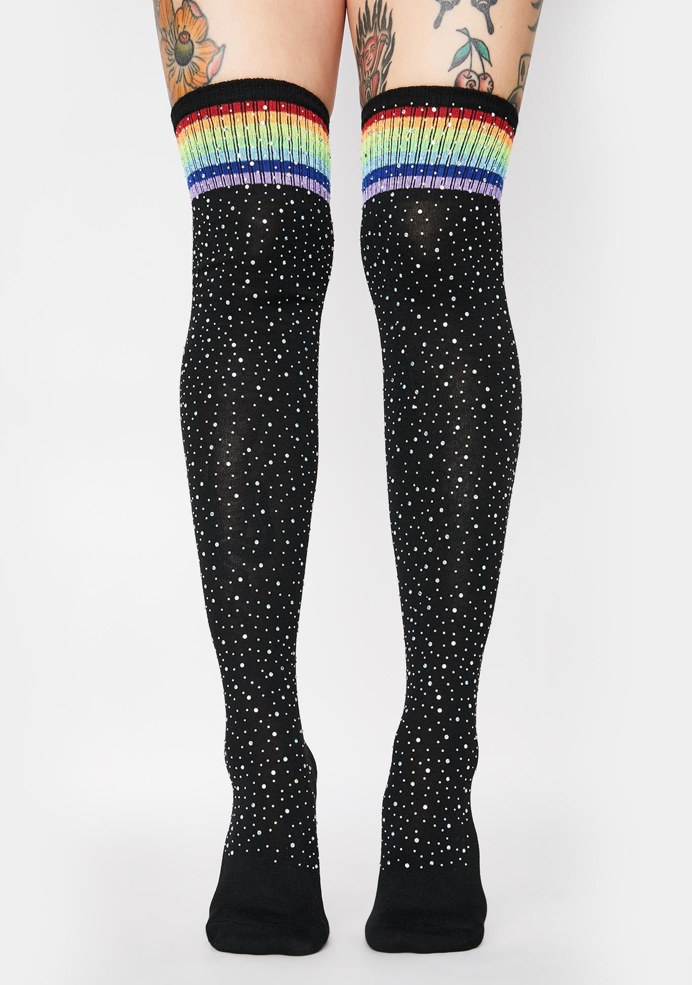 Cosmic Rivals Thigh High Socks