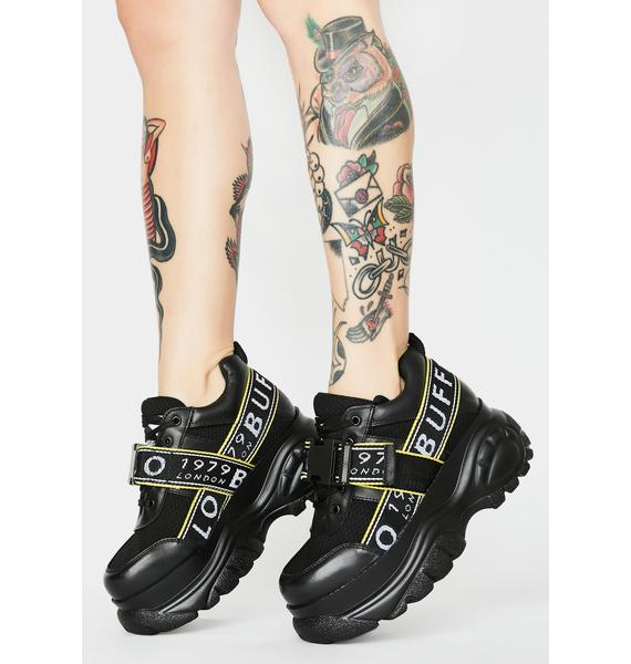 Buffalo London Galip Leather Platform Sneakers