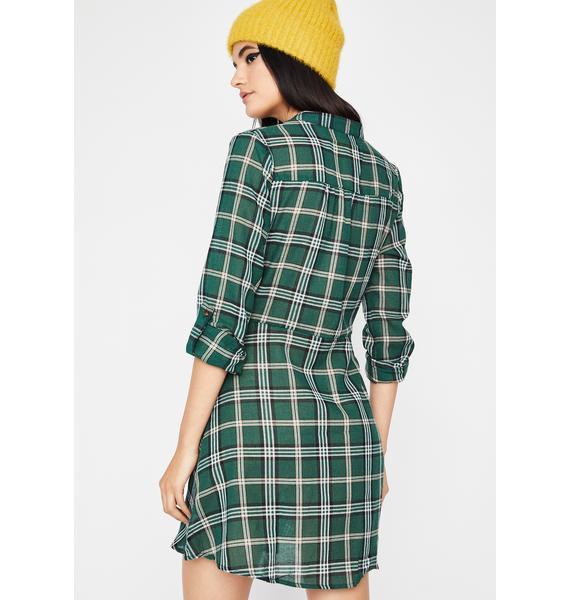 Hit Snooze Plaid Dress