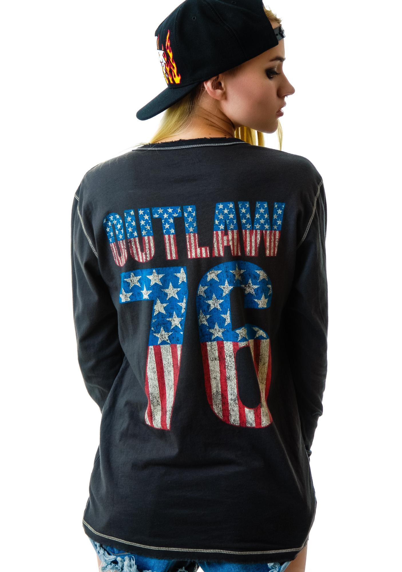Outlaw 76 Henley Shirt