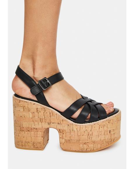 Paige Cork Platform Sandals
