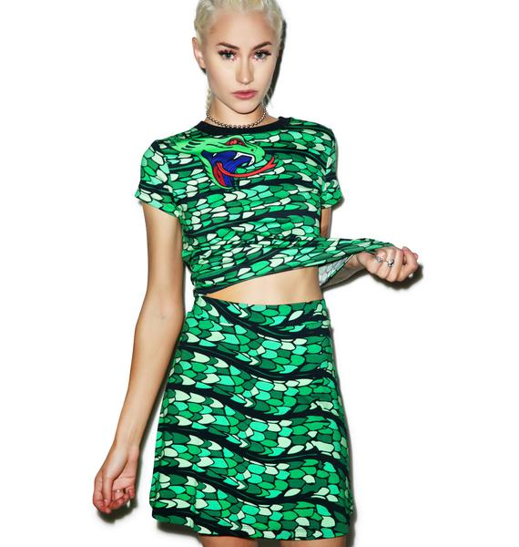 Illustrated People Snake Wrap Skirt