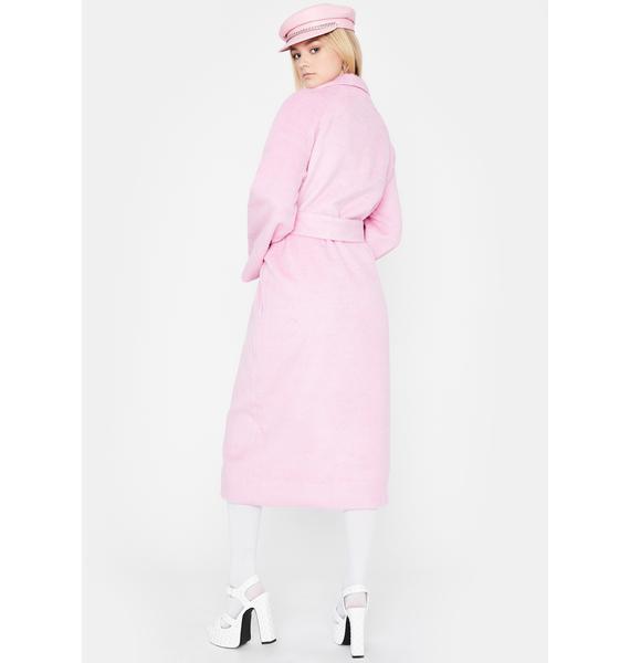 Sweet Ivy League Habits Faux Fur Coat