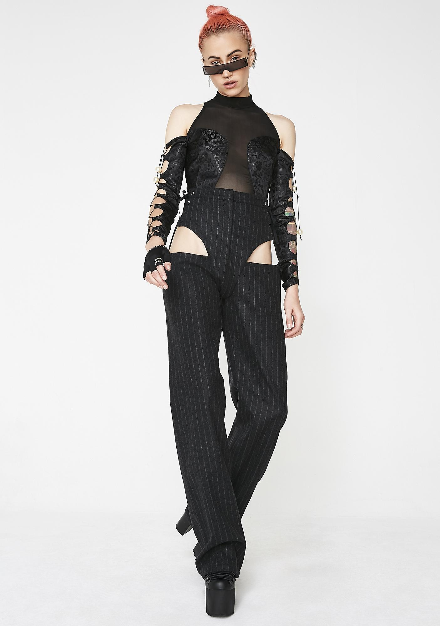 Namilia Pinstripe Wool Panty Trouser