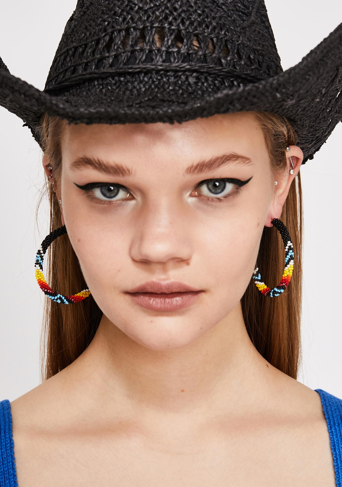 Onyx Glam Affair Beaded Earrings