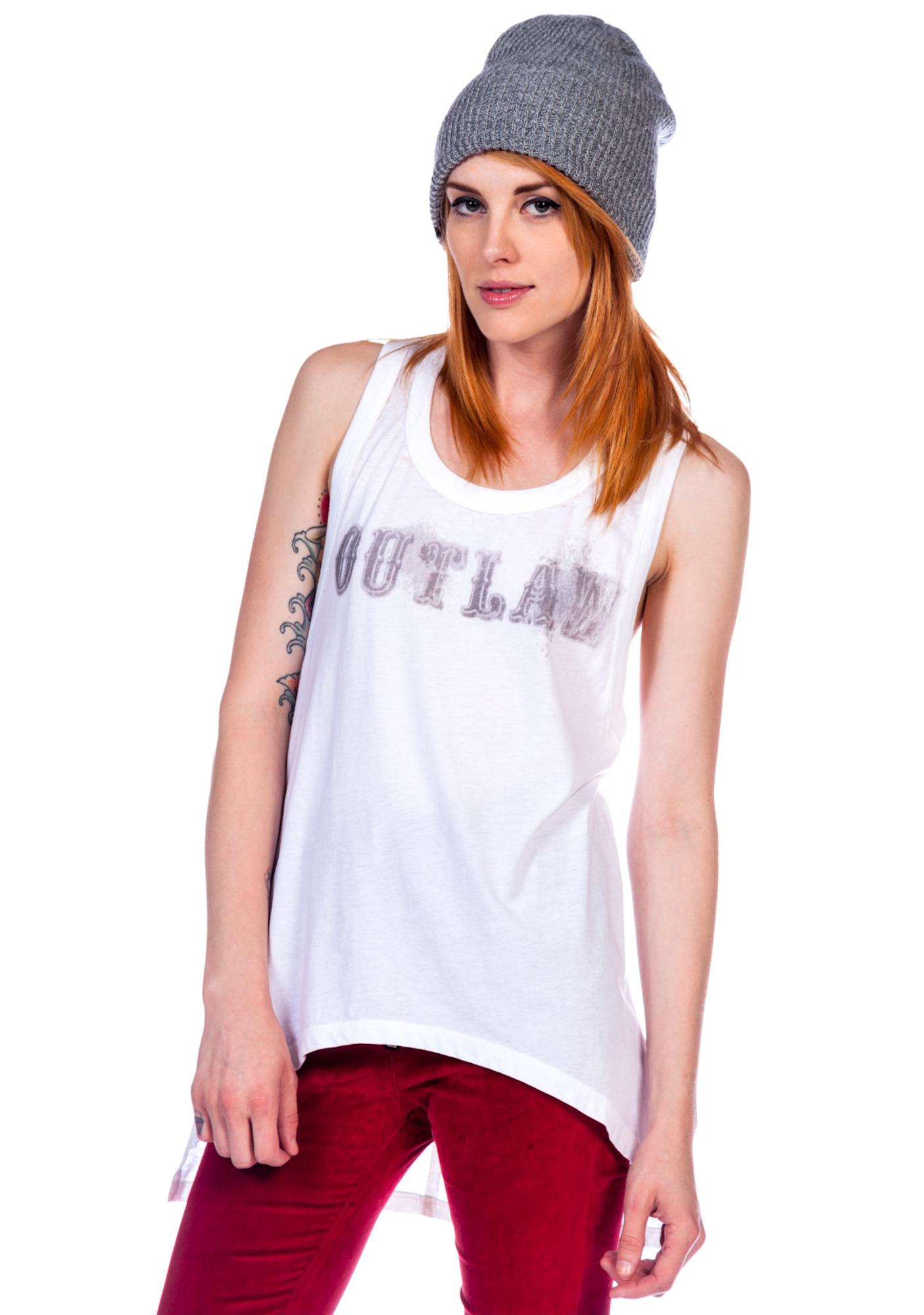 Chaser Outlaw Wet Print Deep Armhole Tank