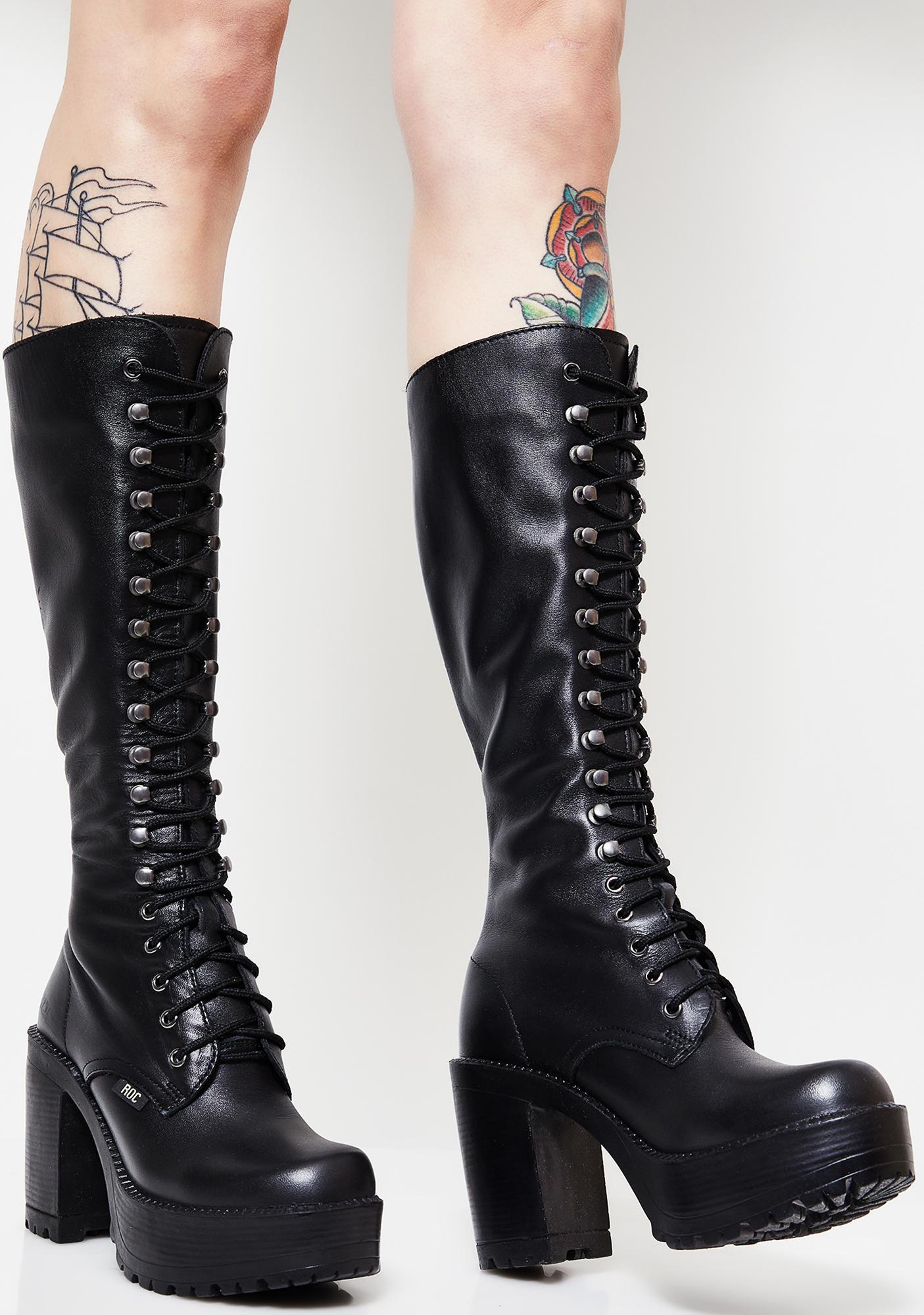de4cd585bb ROC Boots Australia Lash Boots | Dolls Kill