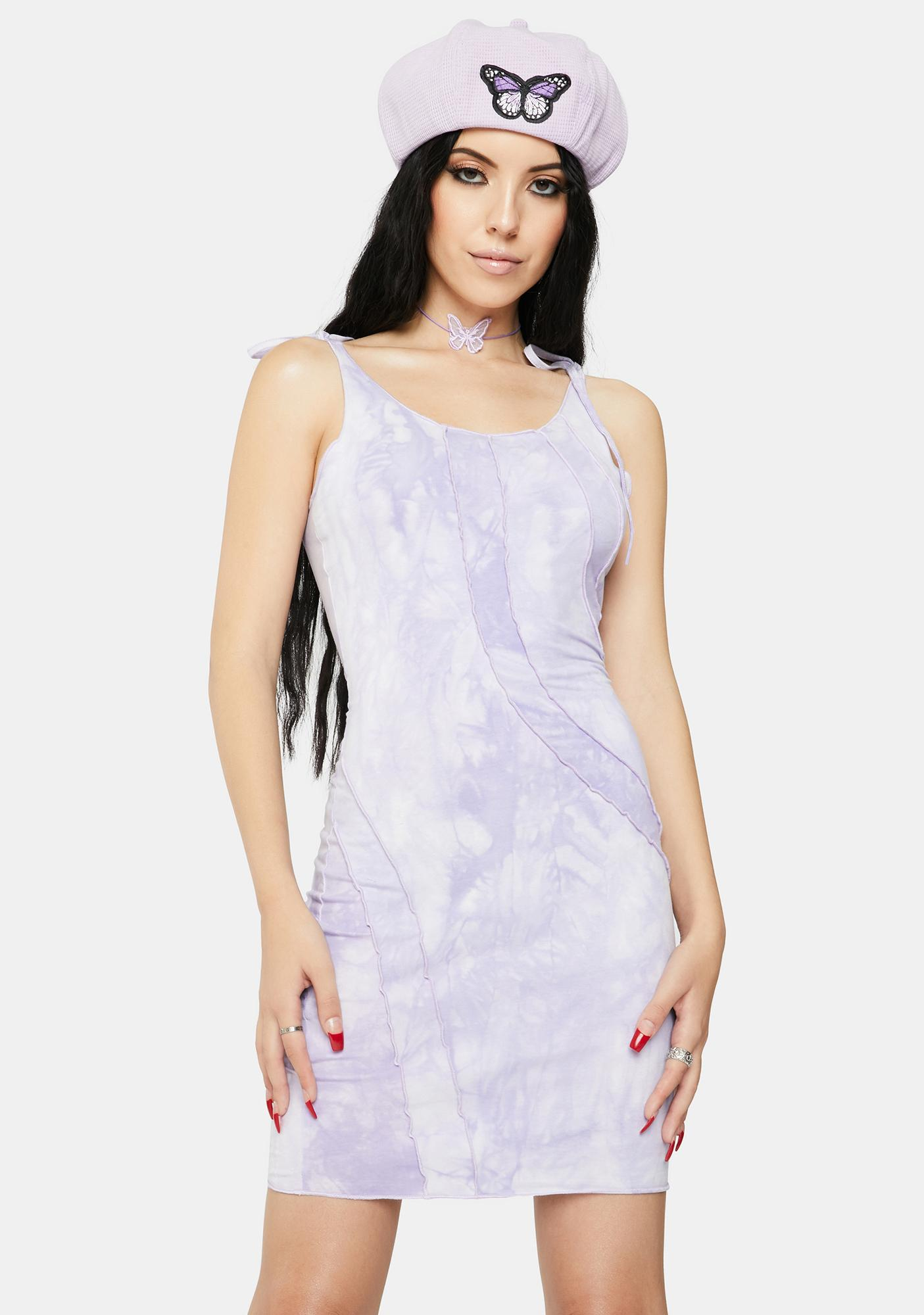 ZEMETA Hem Line Tie Dye Dress