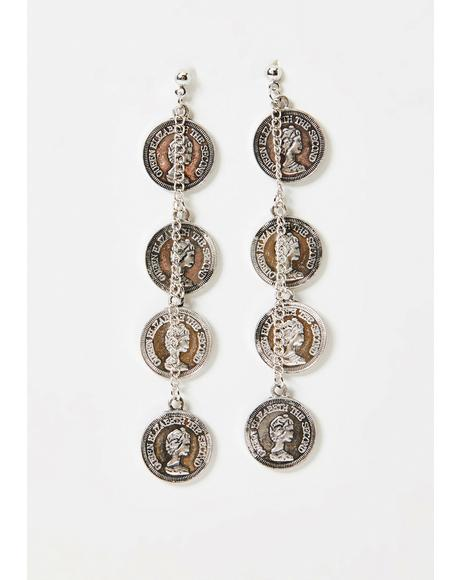 Buried Treasure Coin Earrings