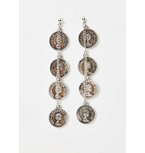 Buried Treasure Coin Earrings