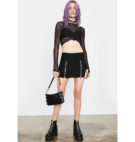 Current Mood Ready Set Ride Mini Skirt