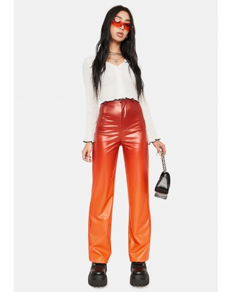 Ombre Vinyl High Waist Pants
