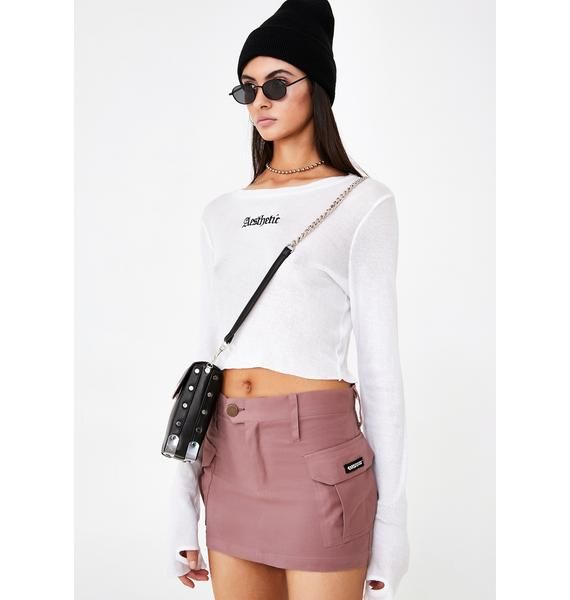 We Want Why Not Us Cargo Mini Skirt