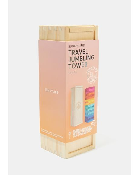 Travel Rainbow Jumbling Tower