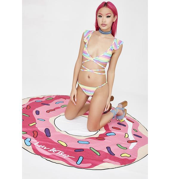 Betsey Johnson Round Doughnut Festival Blanket Duffel