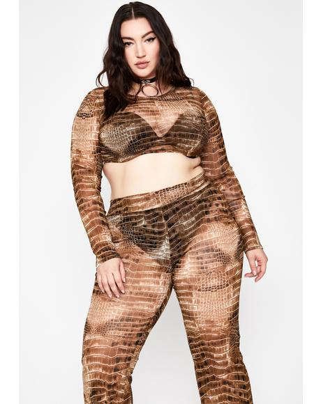 It's A Snap Crocodile Pant Set